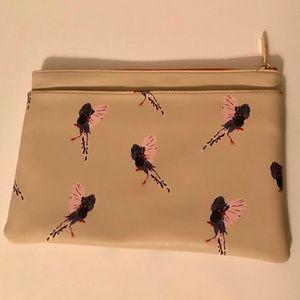 NEW DEUX LUX/NM Bird Print Clutch Bag Cream